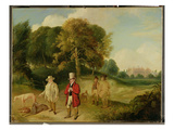 J M W Turner (1775-1851) and Walter Ramsden Fawkes (1769-1825) at Farnley Hall  C1820-24