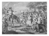 Hudibras' First Adventure  from 'Hudibras' by Samuel Butler  1726 (Engraving)