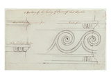 Design for the Mouldings on the Staircase  Headfort House  1772