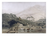 A Kaffir Village  C1801 (W/C and Graphite on Paper)