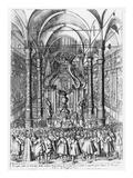 Funeral of Cosimo Ii De'Medici  Grand Duke of Tuscany  1621 (Engraving)