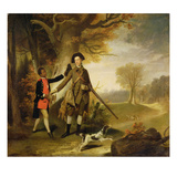 The Third Duke of Richmond (1735-1806) Out Shooting with His Servant  c1765