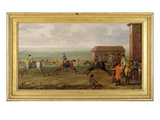 Lord Portmore Watching Racehorses on Exercise on Newmarket Heath  c1735