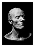 Gustav Mahler's Death Mask  1911 (Plaster) (B/W Photo)
