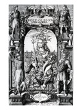 Frontispiece to 'Poly-Olbion' by Michael Drayton  Published in 1622 (Engraving)