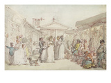 Covent Garden Market  C1795-1810 (Pen and Ink  W/C and Pencil on Wove Paper)