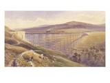 Belah Viaduct  1869 (W/C and Gouache with Pen and Ink on Paper)