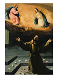 St Francis of Assisi  or the Miracle of the Roses  1630 (Oil on Canvas)