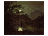 A Lake by Moonlight  c1780-82