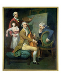 Self Portrait with His Daughter  Maria Theresa () and Possibly Giacobbe and James Cervetto