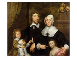 Portrait of a Family  Probably That of Richard Streatfeild  C1645 (Oil on Canvas)