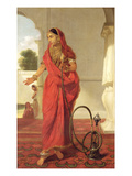 An Indian Dancing Girl with a Hookah  1772