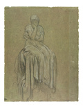 Study for Solitude  C1890 (Chalk on Paper)
