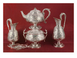 Teaset with Chased Decoration  in the French Style  London  1874-75 (Silver)