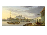 A View of Westminster Bridge and the Abbey from the South Side  1818 (Oil on Panel)