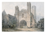 St Augustine's Gate  Canterbury  C1797 (W/C over Pencil on Wove Paper)