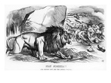 Fiat Justitia! the British Lion and the Afghan Wolves  Cartoon from &#39;Punch&#39; Magazine
