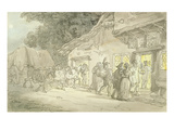 The Waggoner's Rest  C1800-05 (Pen and Ink and W/C over Pencil on Paper)