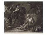 The Cave of Despair  from Spenser  Engraved by Valentine Green (1739-1813) 1775 (Mezzotint)