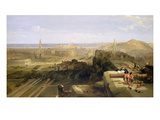Edinburgh from the Castle  1847 (Oil on Canvas)