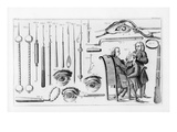 Medical Instruments for Eye Surgery (Engraving) (B/W Photo)