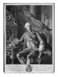 Charles Gravier  Count of Vergennes  Engraved by Vicenzio Vangelisti (1738-98) C1774