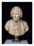 Bust of Jean Jacques Rousseau (1712-78) (Terracotta)