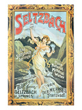 Poster Advertising 'Seltzbach' Pure Natural Mineral Water from the Seltzbach Springs