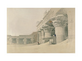 Temple of Horus  Edfu  from 'Egypt and Nubia'  Engraved by Louis Haghe (1806-85)