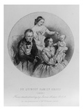 Thomas De Quincey and His Family  1855 (Engraving)
