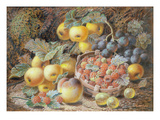 Still Life of Apples  Grapes  Raspberries  Gooseberries and Peach