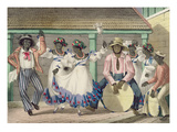 French Set-Girls  Plate 7 from &#39;sketches of Character&#39;  1838 (Colour Litho)