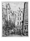 The Rue Pirouette  1860 (B/W Photo)