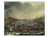 The Frost Fair of the Winter of 1683-4 on the Thames  with Old London Bridge in the Distance C1685