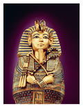 Detail of the Front View of One of the Canopic Coffins  from the Tomb of Tutankhamun  New Kingdom