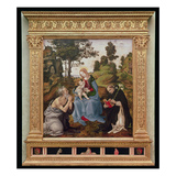 Virgin and Child with St Jerome and St Dominic (Oil and Tempera on Panel)