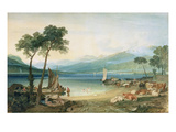 Lake Geneva and Mont Blanc  1802-5 (W/C with Scraping Out  Pen and Ink on Wove Paper)