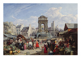 The Market and Fountain of the Innocents  Paris  1823