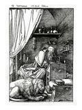 St Jerome in His Cell  1511 (Woodcut)
