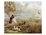 Duck Shooting (Oil on Canvas)