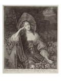 Barbara Duchess of Cleaveland (1641-1709) as a Shepherdess Engraved by William Sherwin (1645-1711)