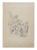 Copy of the Laocoon  for Rees's Cyclopedia  1815 (Graphite on Laid Paper)