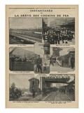 Snapshots of the Rail Strike  Illustration from 'Le Petit Journal'  Supplement Illustre
