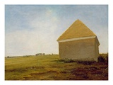 Newmarket Heath  with a Rubbing-Down House  C1765 (Oil on Canvas) (Post-Restoration) (See 111978)