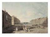 Queen Square  London  1786 (W/C and Pen and Ink over Graphite on Wove Paper)