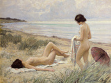 Summer on the Beach (Oil on Canvas)