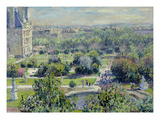 View of the Tuileries Gardens  Paris  1876 (Oil on Canvas)
