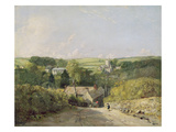 A View of Osmington Village with the Church and Vicarage  1816 (Oil on Canvas)