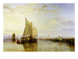 Dort or Dordrecht: the Dort Packet-Boat from Rotterdam Becalmed  1817-18 (Oil on Canvas)