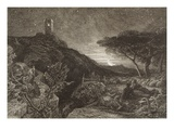 The Lonely Tower  1879 (Etching)